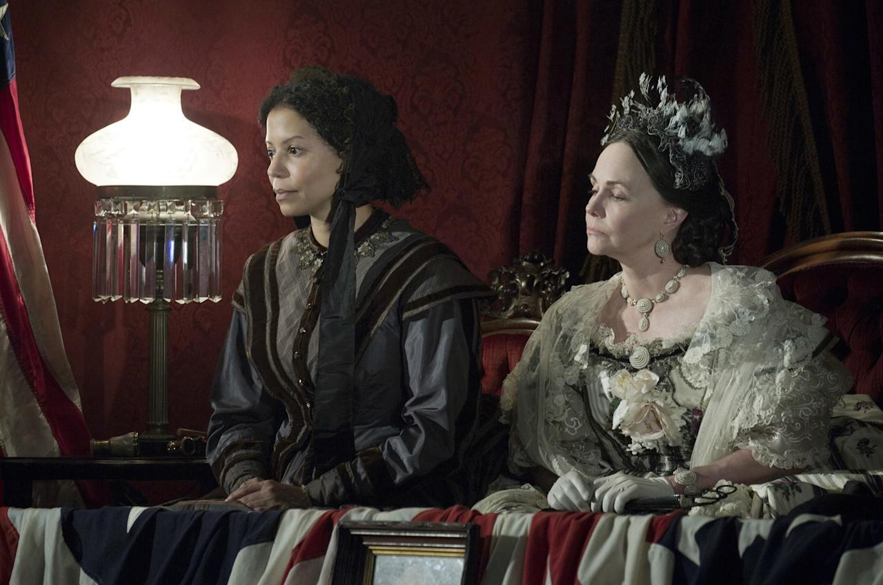 LINCOLN, from left: Gloria Reuben, Sally Field as Mary Todd Lincoln, 2012.