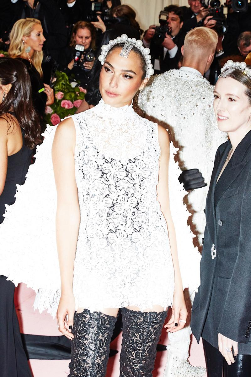 Gal Gadot on the red carpet at the Met Gala in New York City on Monday, May 6th, 2019. Photograph by Amy Lombard for W Magazine.