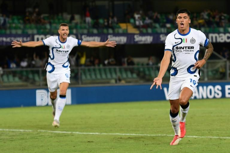 Joaquin Correa signed for Inter on Thursday and won the match at Verona just one day later (AFP/MIGUEL MEDINA)