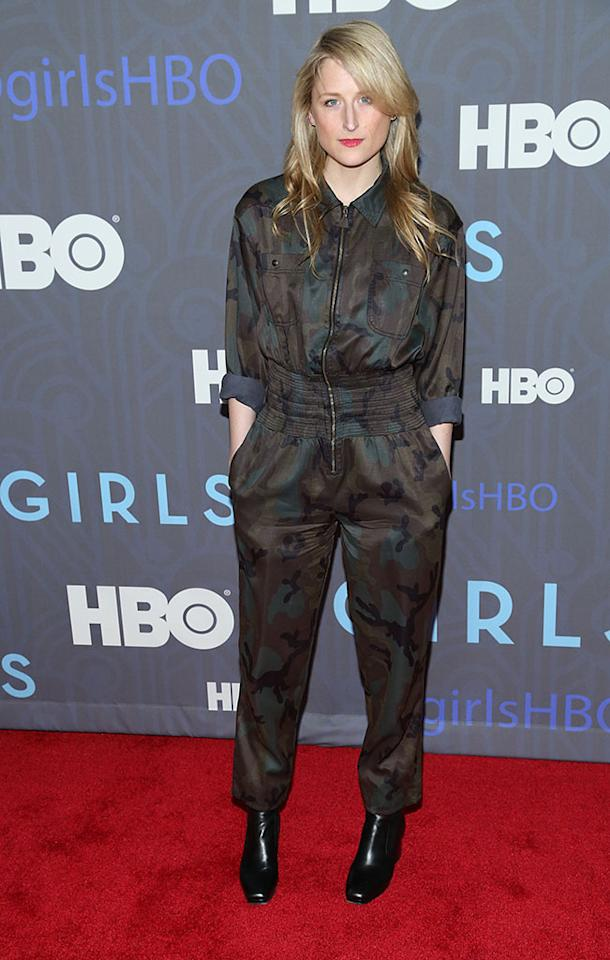 "Mamie Gummer attends HBO's premiere of ""Girls"" Season 2 at the NYU Skirball Center on January 9, 2013 in New York City."
