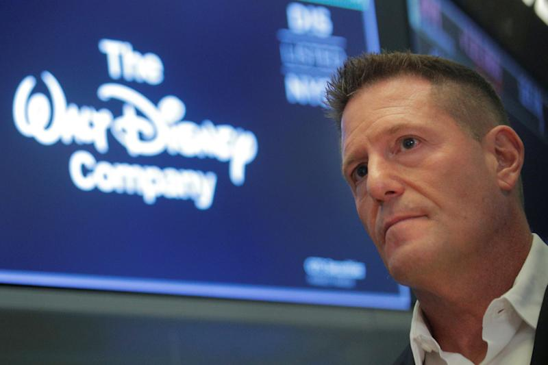 Kevin Mayer, Disney's head of direct-to-consumer division, on the floor at the New York Stock Exchange (NYSE) in New York, U.S., October 22, 2019. REUTERS/Brendan McDermid - RC1CE8B3D880