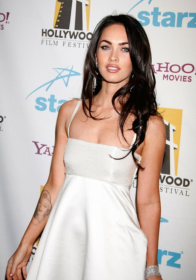 """<a href=""""http://movies.yahoo.com/movie/contributor/1808488000"""">Megan Fox</a> at the Hollywood Film Festival's Hollywood Awards in Beverly Hills - 10/22/2007"""