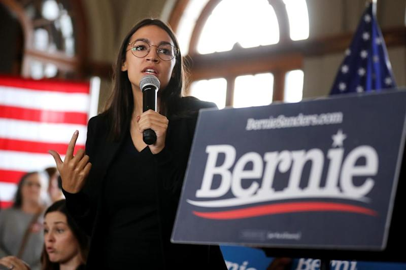 Alexandria Ocasio-Cortez has been a prominent supporter on the campaign trail.