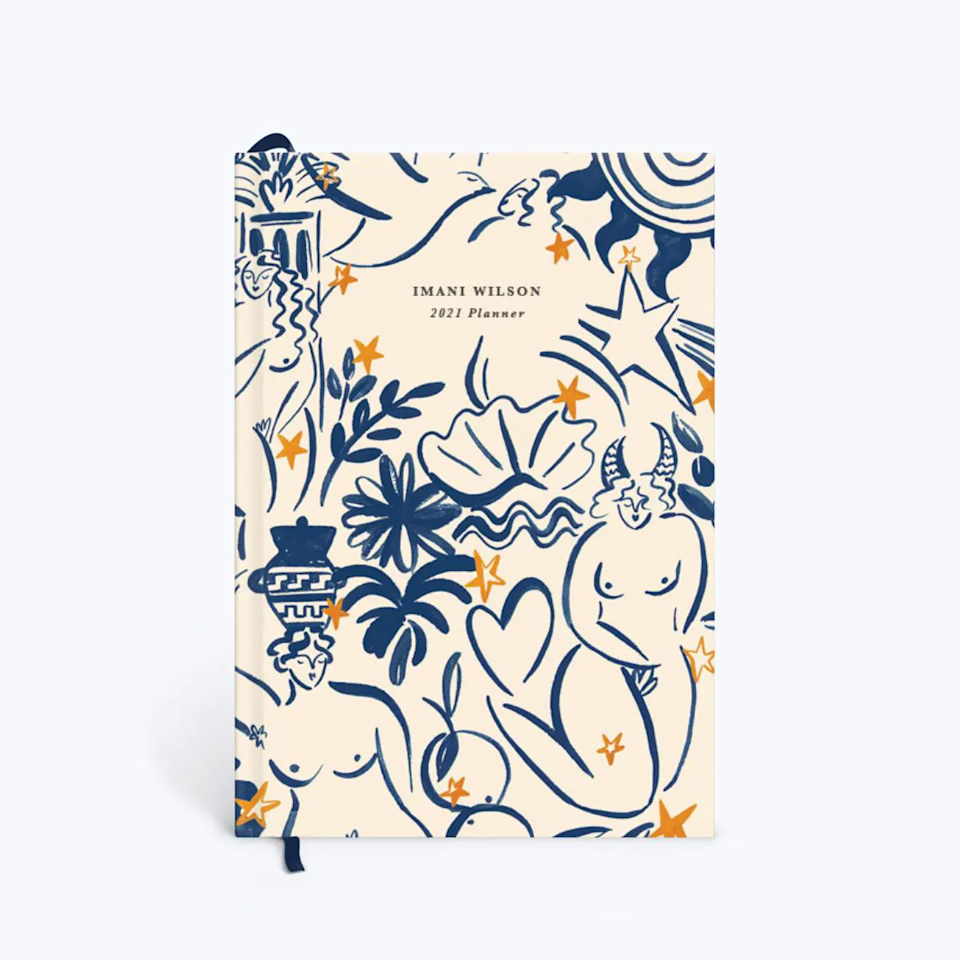 """<h3><a href=""""https://www.papier.com/us/fresco-31949"""" rel=""""nofollow noopener"""" target=""""_blank"""" data-ylk=""""slk:Papier Daily Planner"""" class=""""link rapid-noclick-resp"""">Papier Daily Planner</a></h3><br>Papier makes a variety of hardback daily planners with artistic illustrations, patterns, and colors. Each planner includes monthly and yearly overviews and pages for monthly goals and to-dos. <br><br><strong>Liv & Dom</strong> 2021 Planner, $, available at <a href=""""https://go.skimresources.com/?id=30283X879131&url=https%3A%2F%2Fwww.papier.com%2Fus%2Ffresco-31949"""" rel=""""nofollow noopener"""" target=""""_blank"""" data-ylk=""""slk:Papier"""" class=""""link rapid-noclick-resp"""">Papier</a>"""