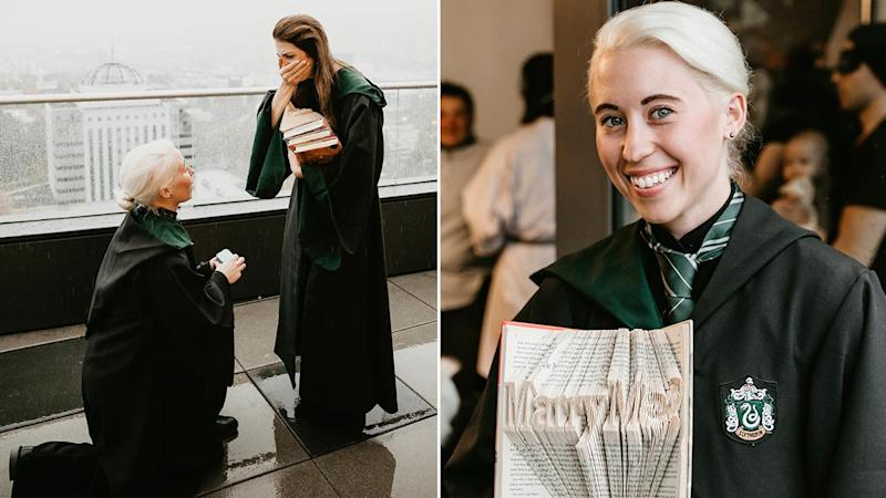 This Woman's Harry Potter-Themed Proposal Is Sheer Magic