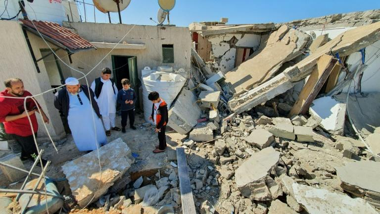 A Tripoli house after a rocket attack in February by forces loyal to eastern Libyan strongman Khalifa Haftar