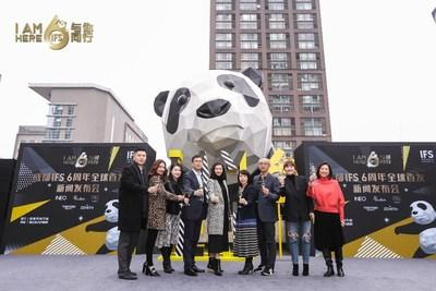 Government officials as well as representatives of Chengdu IFS and resident brands, attend the joint global launch event at the 6th anniversary of Chengdu IFS
