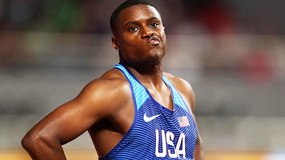 Christian Coleman, pictured here at the IAAF World Athletics Championships in 2019.