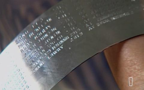 <span>The engraver's work is done</span> <span>Credit: Sky Sports </span>