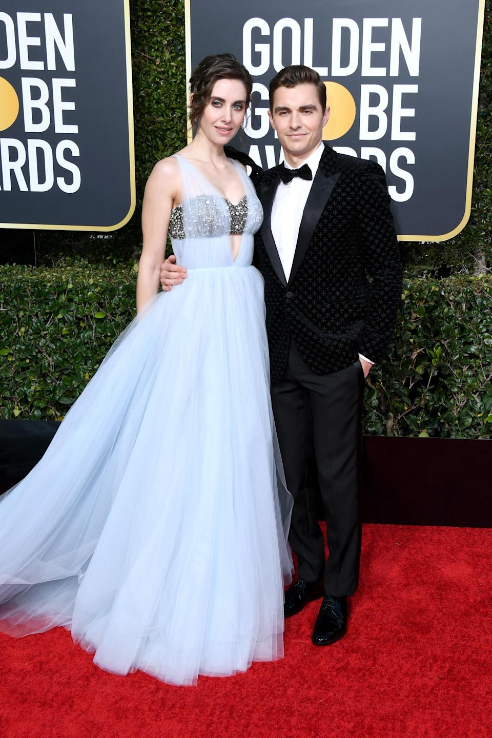 <p>Alison Brie and Dave Franco attend the 76th Annual Golden Globe Awards at the Beverly Hilton Hotel in Beverly Hills, Calif., on Jan. 6, 2019. (Photo: Getty Images) </p>