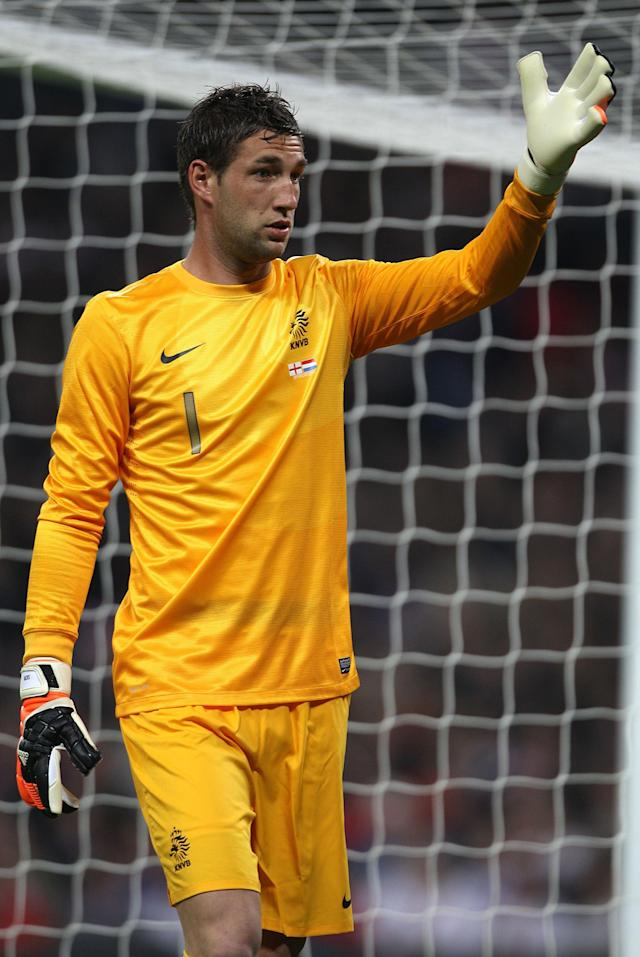 File photo dated 29/2/12 of Maarten Stekelenburg, Holland goalkeeper.