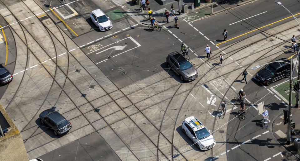 Tram and road junction. Source: Getty Images