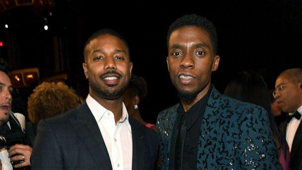 PHOTO: Michael B. Jordan and Chadwick Boseman attend the 47th AFI Life Achievement Award honoring Denzel Washington, June 6, 2019, in Hollywood, Calif. (Kevin Mazur/Getty Images )