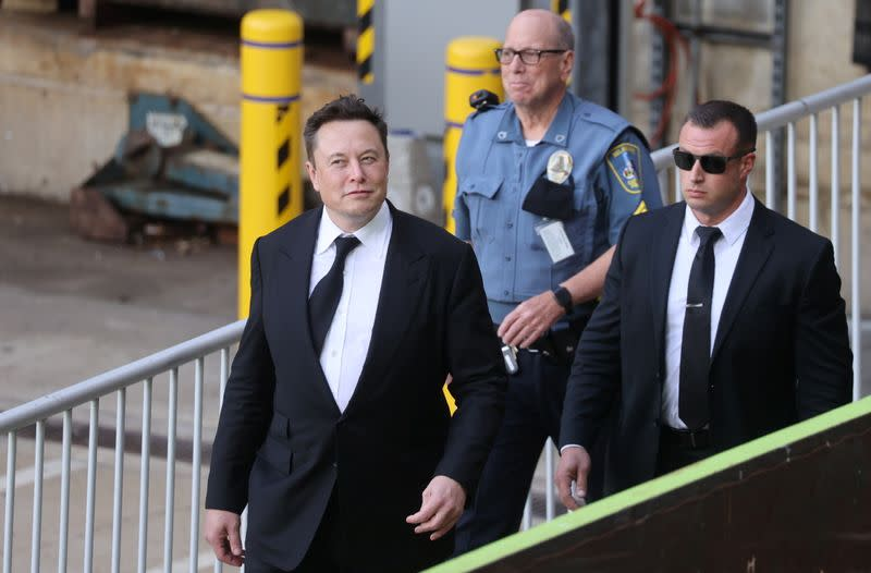 Tesla CEO Elon Musk defends Tesla Inc's 2016 deal before the Delaware Court of Chancery in Wilmington