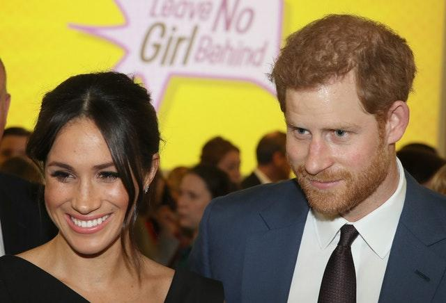 Meghan and Harry pictured at a women's empowerment reception during last year's Commonwealth Heads of Government Meeting in the UK. Chris Jackson/PA Wire