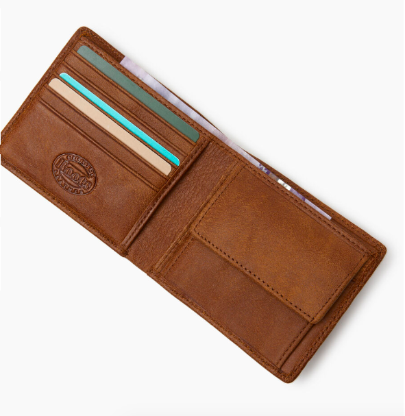 Mens Slimfold Wallet With Coin Pocket Tribe. Image via Roots.