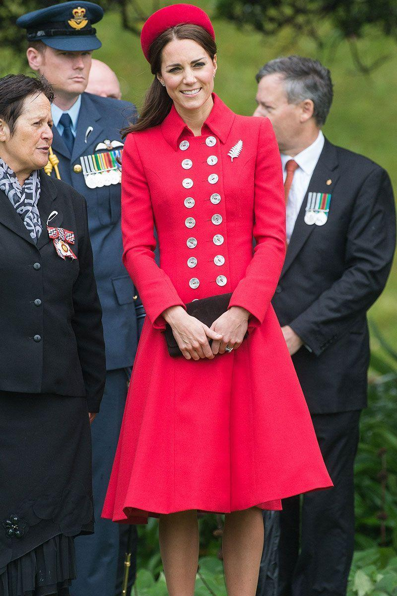 <p>Five years ago, Kate wore an almost-identical outfit during her tour of Australia and New Zealand with Prince William and a young Prince George. </p>