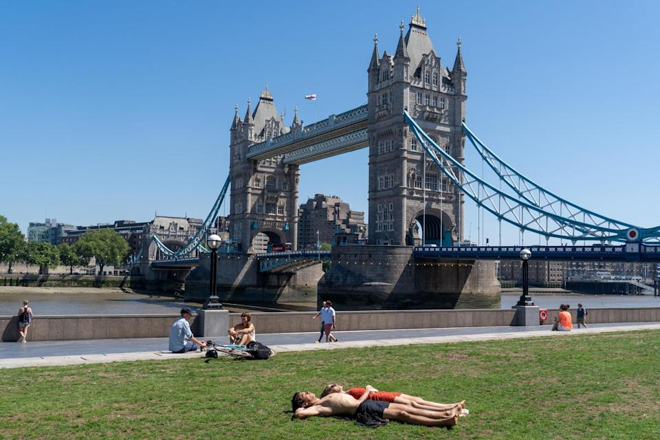 It will be one of several spells of beautiful weather Londoners have enjoyed since lockdown was imposed on March 23 (AFP via Getty Images)