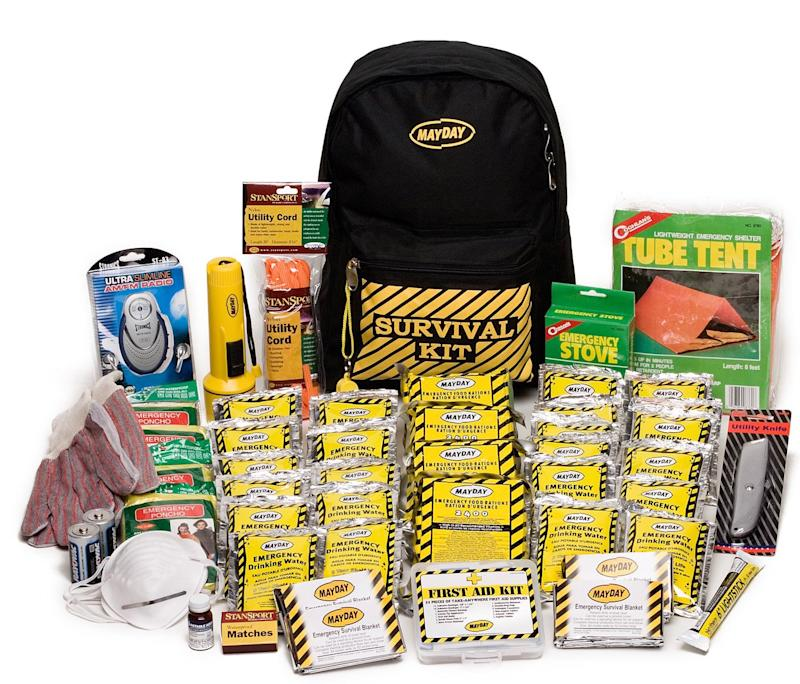 A bug-out bag is packed with essentials to keep you safe (Photo: Amazon)