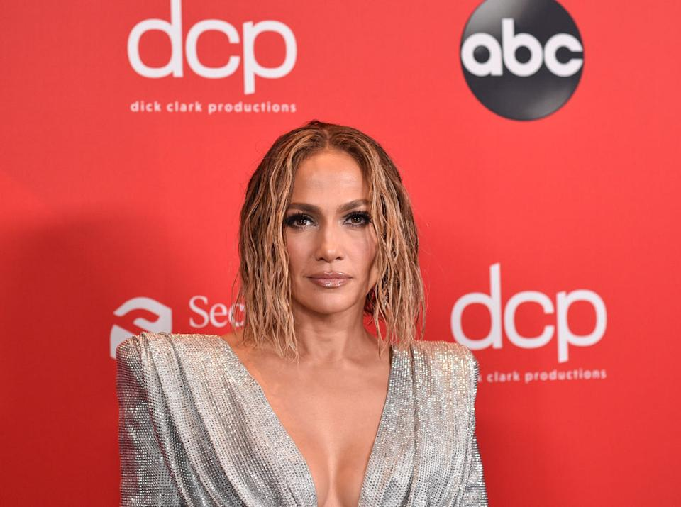 Jennifer Lopez has stripped naked to tease her new single, pictured at the 2020 American Music Awards November 22. (Getty Images)