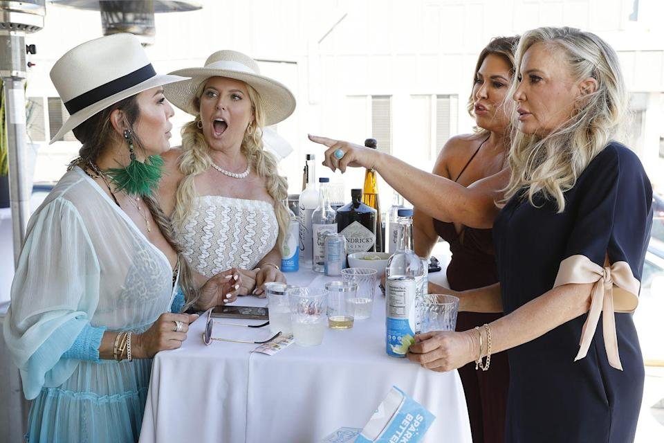 """<p>While many have accused the <em>Real Housewives</em> of being scripted or staged, the show stands by the fact that storylines are authentic. """"Good luck trying to get f---ing reality talent to do anything scripted, because they're so difficult,"""" an anonymous <em>Real Housewives</em> producer <a href=""""https://www.businessinsider.com/reality-show-secrets-2016-4"""" rel=""""nofollow noopener"""" target=""""_blank"""" data-ylk=""""slk:told Business Insider"""" class=""""link rapid-noclick-resp"""">told <em>Business Insider</em></a>.</p>"""