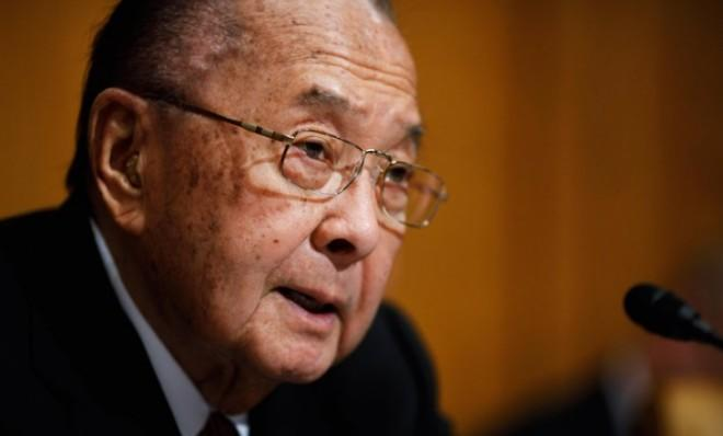 Inouye, a WWII veteran, earned a Distinguished Service Cross that was upgraded to the Medal of Honor in 2000.