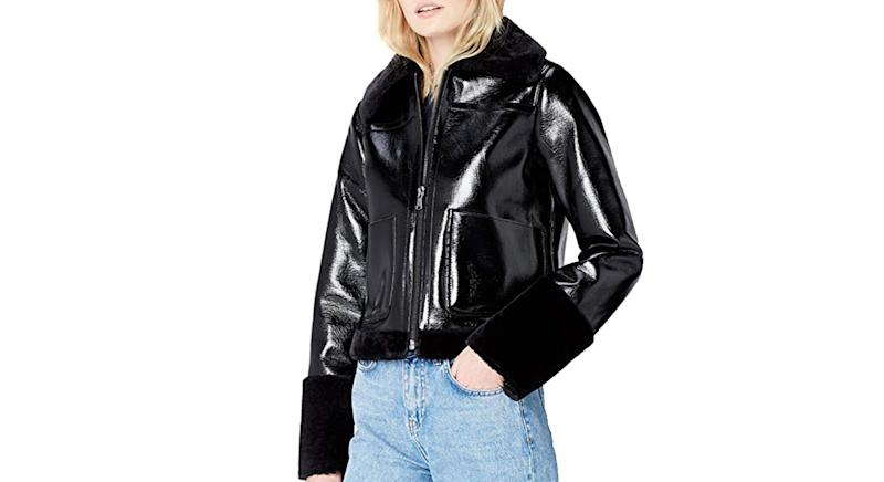 find. Women's Jacket in Vinyl and Faux Fur