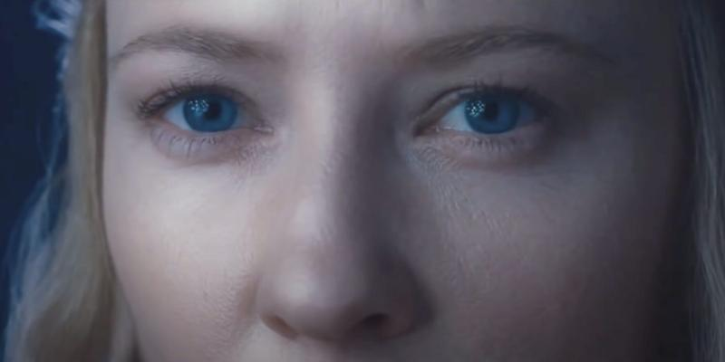 Galadriel eyes close up Lord of the Rings The Fellowship of the Ring New Line Cinema