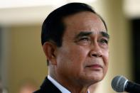 Thailand Prime Minister Prayuth Chan-ocha attends an agreement signing ceremony for purchase of AstraZeneca's potential COVID-19 vaccine at Government House in Bangkok