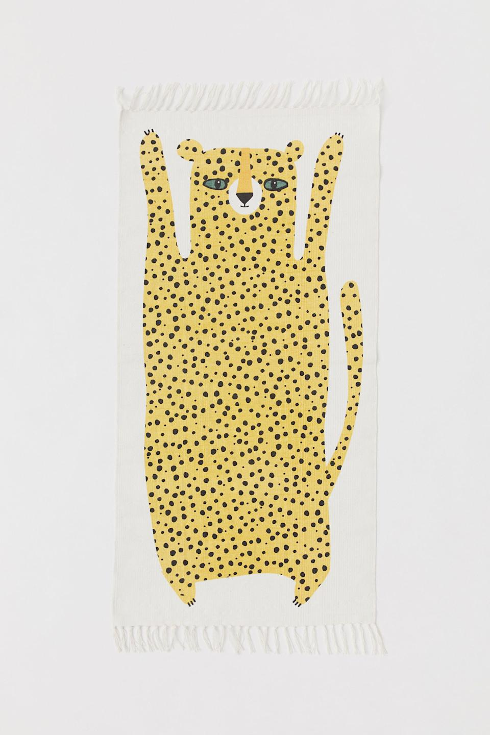 "<p>Add an easy touch of whimsy to your hallway with this leopard-printed, cotton runner.</p><br><br><strong>H&M</strong> Cotton Rug with Printed Motif, $29.99, available at <a href=""https://www2.hm.com/en_us/productpage.0591679004.html"" rel=""nofollow noopener"" target=""_blank"" data-ylk=""slk:H&M"" class=""link rapid-noclick-resp"">H&M</a>"