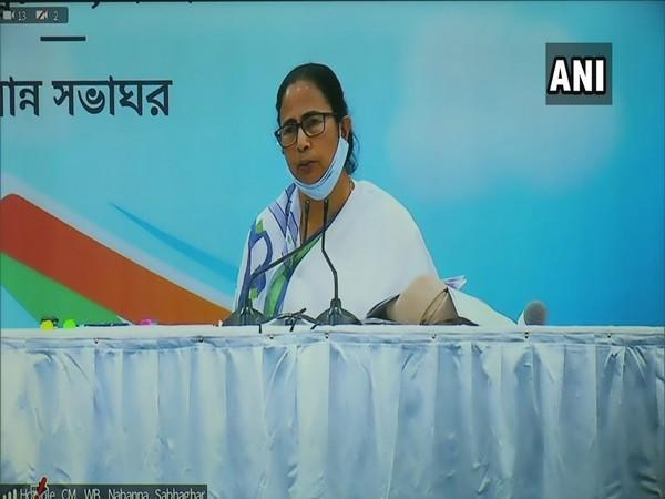 West Bengal CM Mamata Banerjee addressing a press conference on Monday in Nabanna .