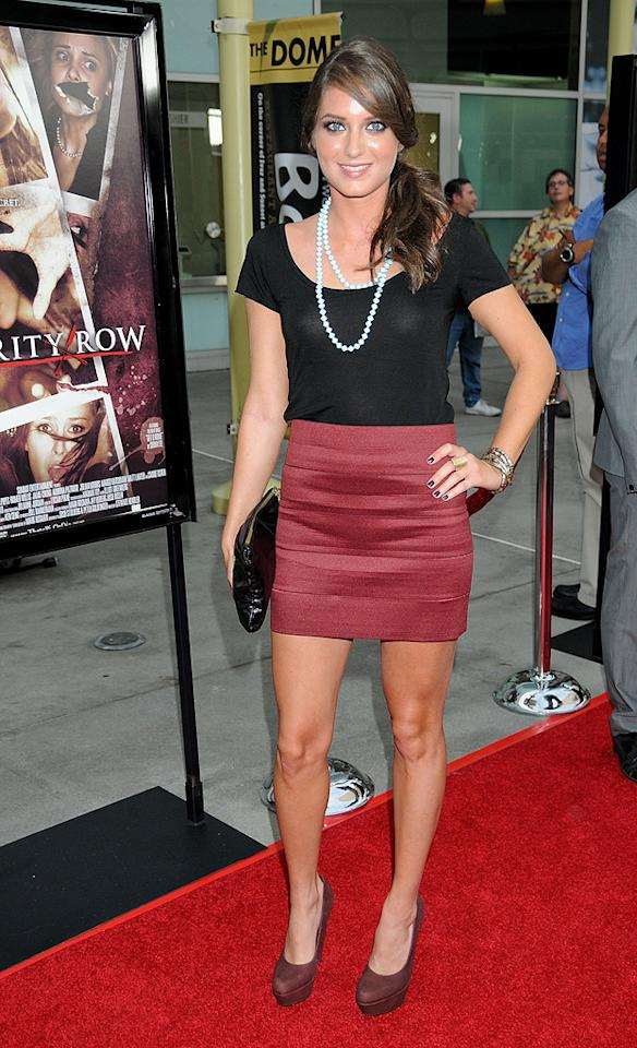 "<a href=""http://movies.yahoo.com/movie/contributor/1809006845"">Justine Wachsberger</a> at the Los Angeles premiere of <a href=""http://movies.yahoo.com/movie/1810046336/info"">Sorority Row</a> - 09/03/2009"