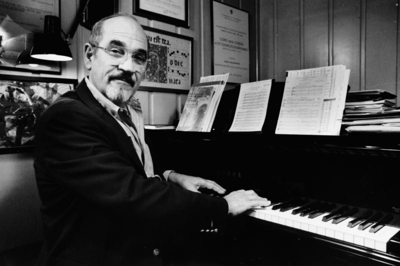 This photo provided by courtesy of Los Angeles Master Chorale shows Music Director Emeritus of the Los Angeles Master Chorale, Paul Salamunovich, at the piano in Los Angeles. The chorale's publicist, Libby Huebner, says the Grammy-nominated conductor died Thursday, April 3, 2014, of complications related to West Nile virus. He was 86. (AP Photo/Los Angeles Master Chorale)