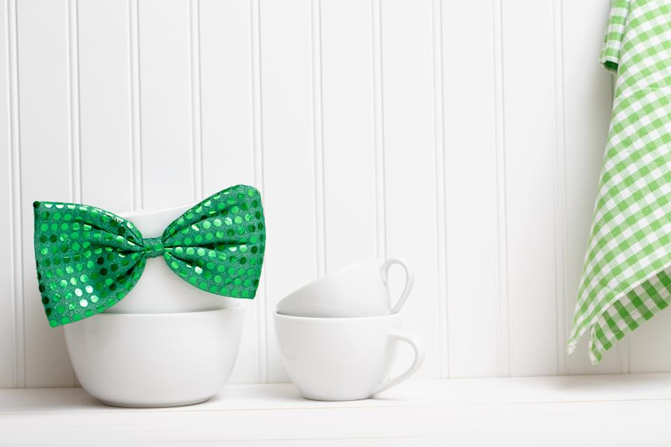 Celebrate St Patrick's Day with fun green clothing and accessories.