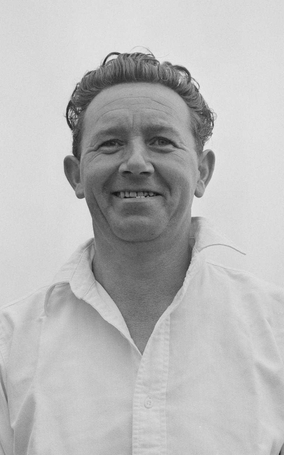 Smith in 1961, an especially successful year, in which he made 1,527 runs and took 58 wickets - Fox Photos