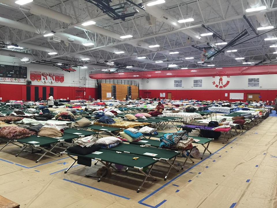 Immokalee High served as a place of refuge for residents in the aftermath of Hurricane Irma. (Yahoo Sports)