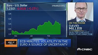 European companies are guiding lower as euro strength against the dollar weighs on earnings, says David Miller of Quilter Cheviot.
