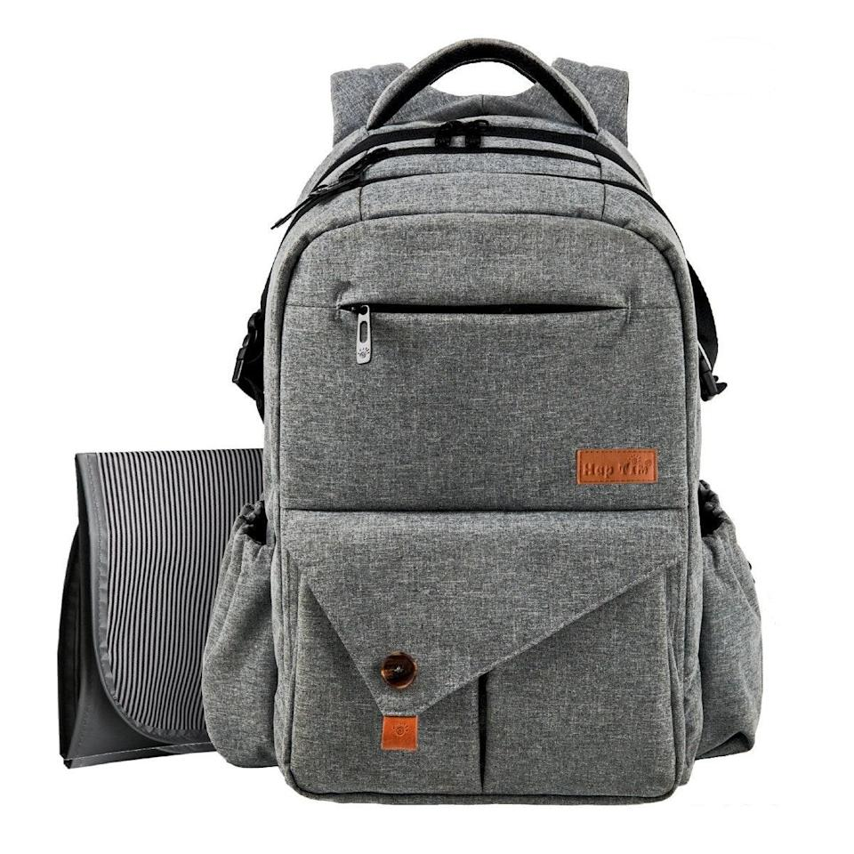 """I love this diaper bag! It's a backpack style and huge, so I could fit <em>all</em> the baby gear for three kids under three, a.k.a. #3under3. It's held up way better for multiple kids than my original, super-expensive one. —<em>Amy Vanden Boogart, curriculum specialist and mom of three</em> $41, Amazon. <a href=""""https://www.amazon.com/Multi-function-Straps-Insulated-Pockets-Changing-Anti-Water-Gray-5284/dp/B01MCWVQN1"""" rel=""""nofollow noopener"""" target=""""_blank"""" data-ylk=""""slk:Get it now!"""" class=""""link rapid-noclick-resp"""">Get it now!</a>"""