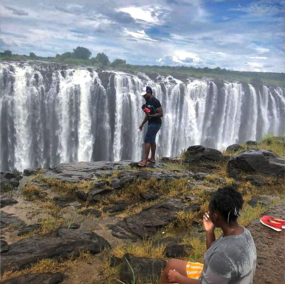 Last photo of the tourist who fell into Victoria Falls. Source: Newsflash/Australscope