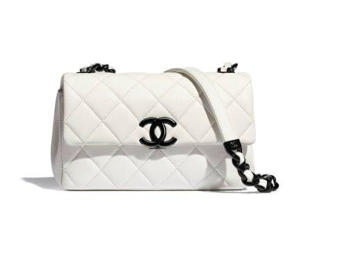 <p><span>Chanel's Small Flap Bag</span> ($3,900) is a new twist on an old classic. The black and white contrast makes a bold statement against neutrals or brights. </p>