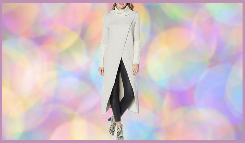 How gorgeous is this high-low knit? (Photo: HSN)