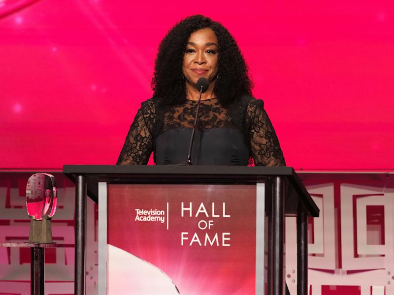 IMAGE DISTRIBUTED FOR THE TELEVISION ACADEMY - Shonda Rhimes is inducted into the Television Academy Hall of Fame on Wednesday, Nov. 15, 2017 at the Television Academy's Saban Media Center in North Hollywood, Calif. (Photo by Phil Mccarten/Invision for Invision for the Television Academy/AP Images)