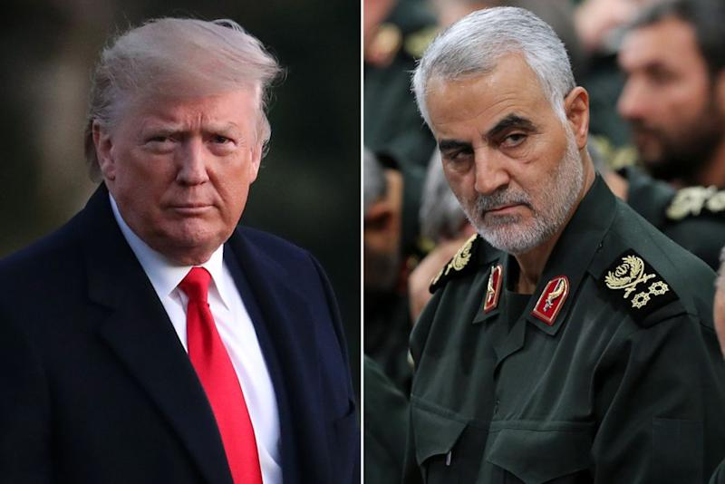 Donald Trump and Qasem Soleimani | Mark Wilson/Getty Images; IRANIAN SUPREME LEADER'S OFFICE HANDOUT/EPA-EFE/Shutterstock