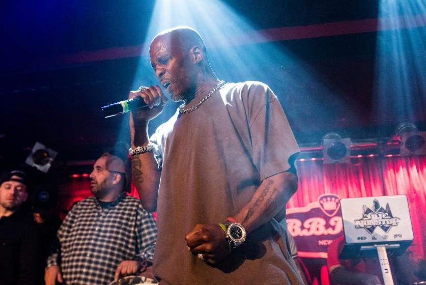 NEW YORK, NEW YORK - MARCH 27: Rapper DMX performs in concert at B.B. King Blues Club & Grill on March 27, 2016 in New York City. (Photo by Noam Galai/Getty Images)