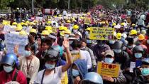 Protest against the military coup, in Myitkyina
