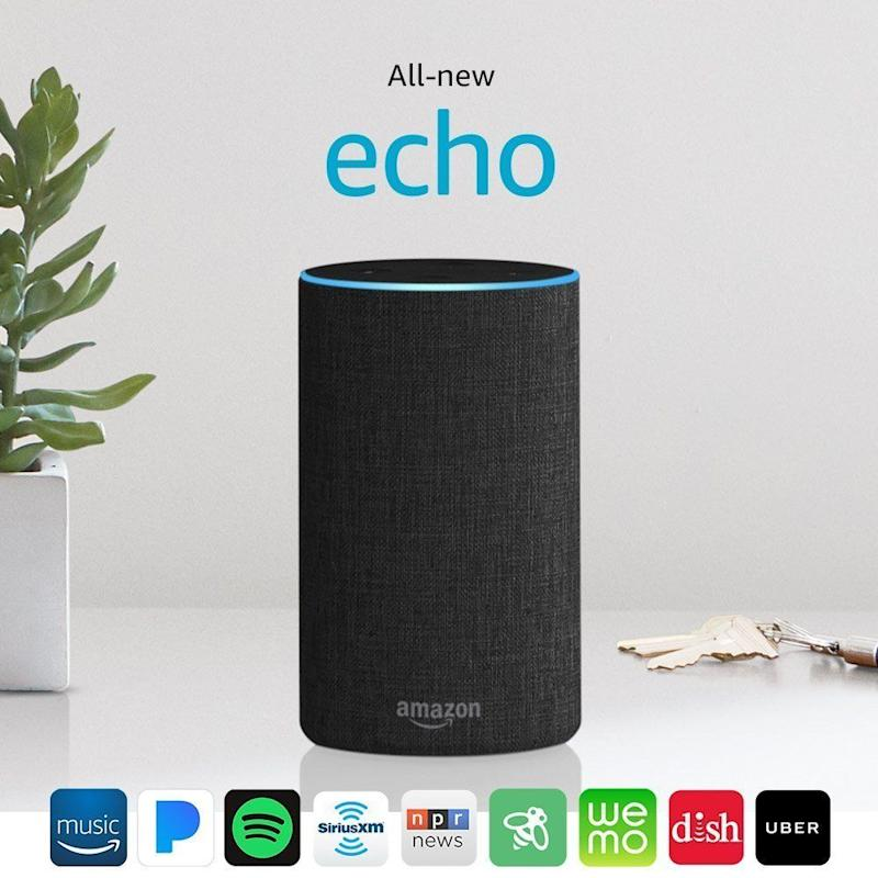 "The <a href=""https://www.amazon.com/dp/B06XCM9LJ4/ref=fs_ods_fs_ha_dr?th=1"" target=""_blank"">all-new Echo</a> has improved sound and a few new designs that are under $100."