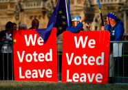 """Unsurprisingly, it was Brexit above all else that Yahoo users searched for. The issue claimed the scalp of Theresa May, elevated Boris Johnson to the top job and divided both MPs and the country as a whole. With <a href=""""https://uk.finance.yahoo.com/news/uk-general-election-5-day-124141543.html"""" data-ylk=""""slk:just a month until Britain leaves;outcm:mb_qualified_link;_E:mb_qualified_link;ct:story;"""" class=""""link rapid-noclick-resp yahoo-link""""><strong>just a month until Britain leaves</strong></a>, there is no doubt it will remain high up on the list throughout 2020. (Getty)"""