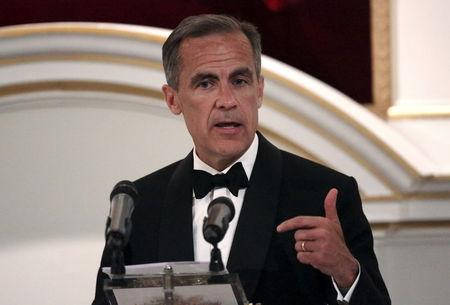 Bank of England Governor Mark Carney speaks during the Bankers and Merchants Dinner at the Masion House in London