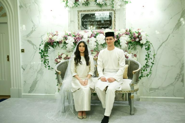 The royal couple pictured after their wedding