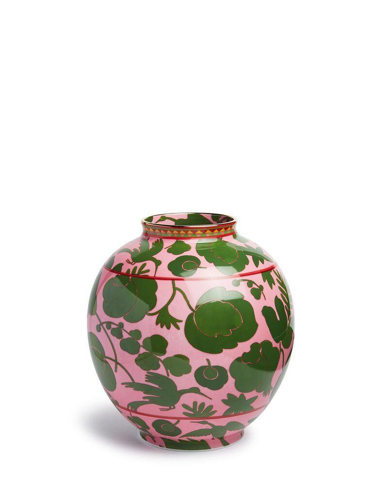 """<p>ladoublej.com</p><p><strong>$455.00</strong></p><p><a href=""""https://www.ladoublej.com/en/homeware-homeware/shop-by-room/living-room/bubble-vase-wildbird-rosa%2Fverde-VAS0003CER001CER0016.html"""" rel=""""nofollow noopener"""" target=""""_blank"""" data-ylk=""""slk:Shop Now"""" class=""""link rapid-noclick-resp"""">Shop Now</a></p><p>Verona-based porcelain maker Ancap reworked classic patterns and motifs with contrasting color combinations to bring a modern twist to a traditional porcelain vase. Such a cool piece to showcase around your space!</p>"""
